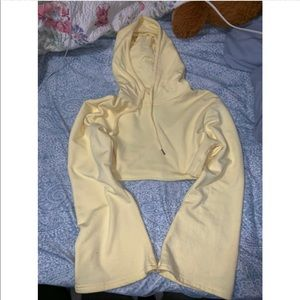 Forever 21 Tops - NEW yellow cropped hoodie